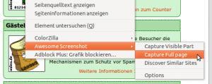 """Das Firefox Add-On """"Awesome Screenshot Plus"""" ermöglicht es auch unter Linux ein Bildschirmfoto eine kompleten Webseite (oder auch Teilen davon) zu erstellen. Im Anschluss kann das Foto direkt bearbeitet werden"""